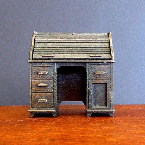 Durham Industries Mini Writing Desk, Doll House Furniture