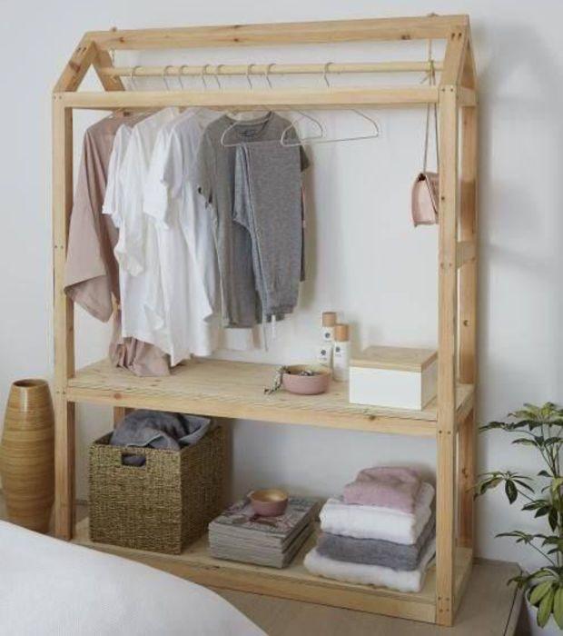 Les Meilleures Idees De Dressing Ouvert Diy Clothes Storage Diy Wardrobe Diy Closet