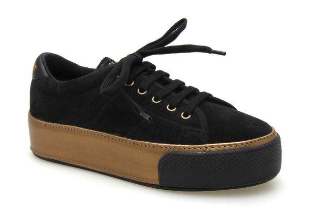 Baskets compensées NO NAME MIDNIGHT SNEAKER Noir / Bronze - Chaussures femme