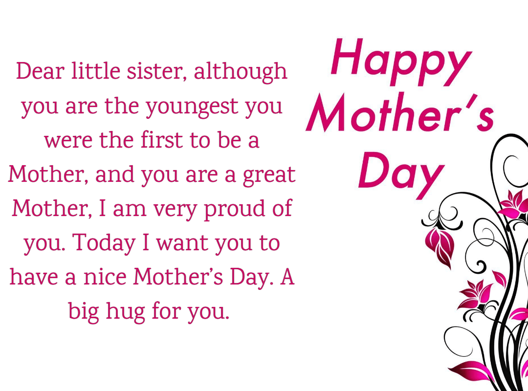 25 Mother S Day Quotes And Wishes For Sister 2019 Iphone2lovely Mother Day Message Happy Mothers Day Sister Wishes For Sister