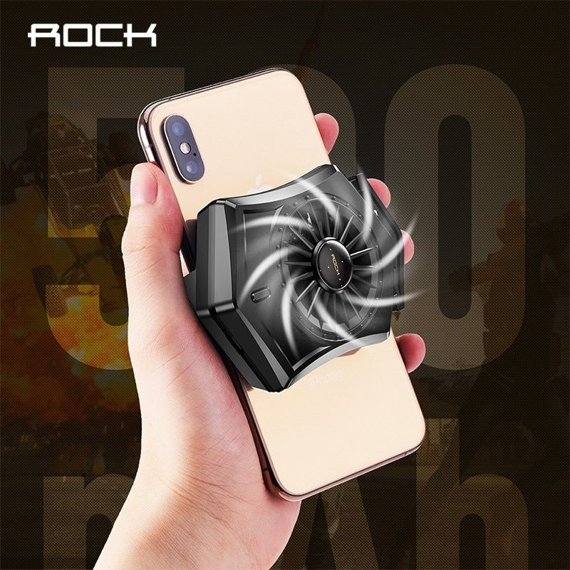 Rock Retractable Mobile Phone Cooling Pad Game Cooler Fan Holder