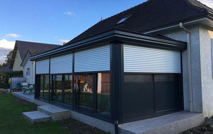 Veranda Aluminium Gris Anthracite Espace Salon Sejour Aramits 65 Veranda Aluminium Veranda Akena Veranda