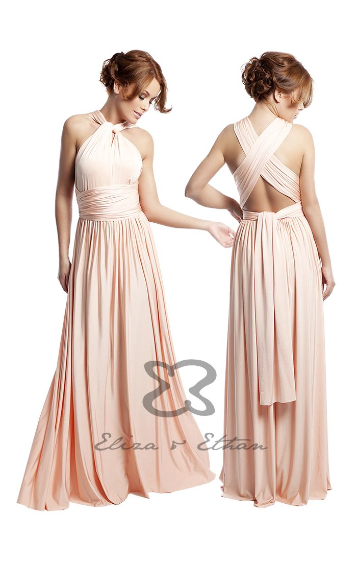 Peach Infinity Bridesmaid Dress