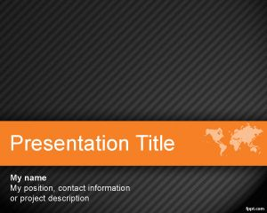Worldmap powerpoint template is a free orange with dark background world orange powerpoint template is a free orange with dark background for effective powerpoint presentations that you can use for international business toneelgroepblik Image collections
