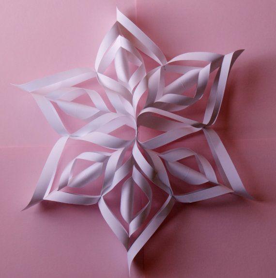 3d Snowflakes Tutorial Template Pdf For By Myscrapbookstudio
