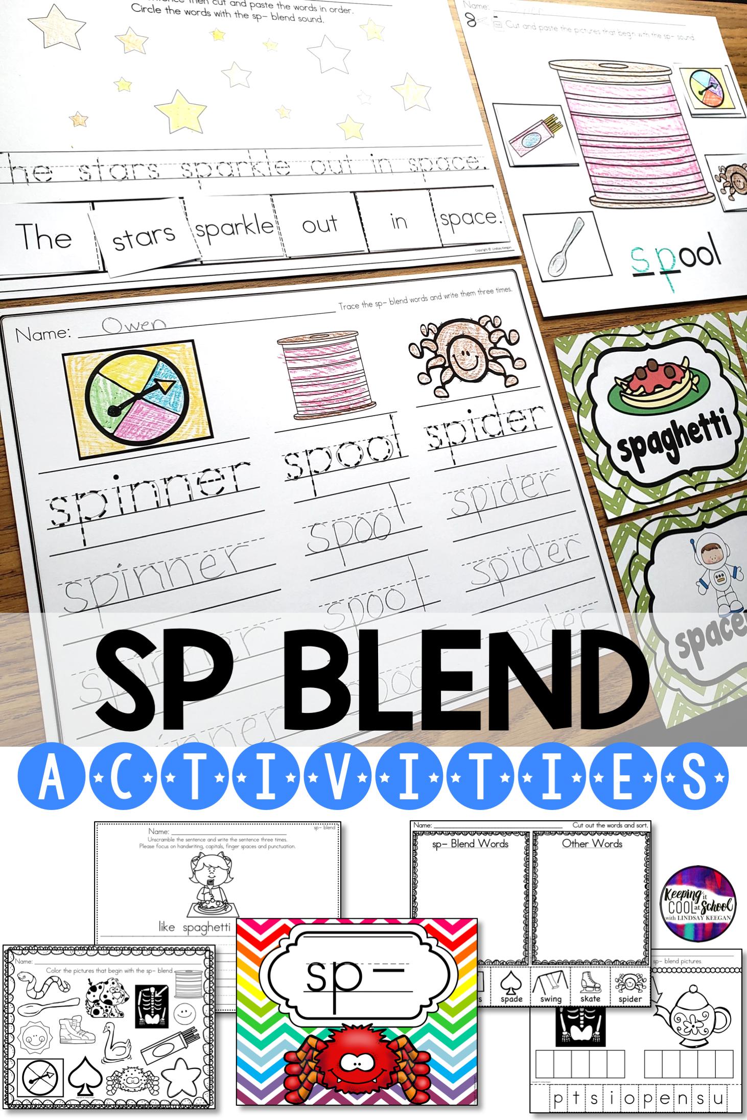 Sp Blend Worksheets In