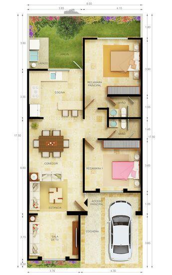 Plantas Terreas Plantasdecoracion Denah Rumah Denah Lantai Rumah Denah Rumah Pedesaan Yellow house floor plan
