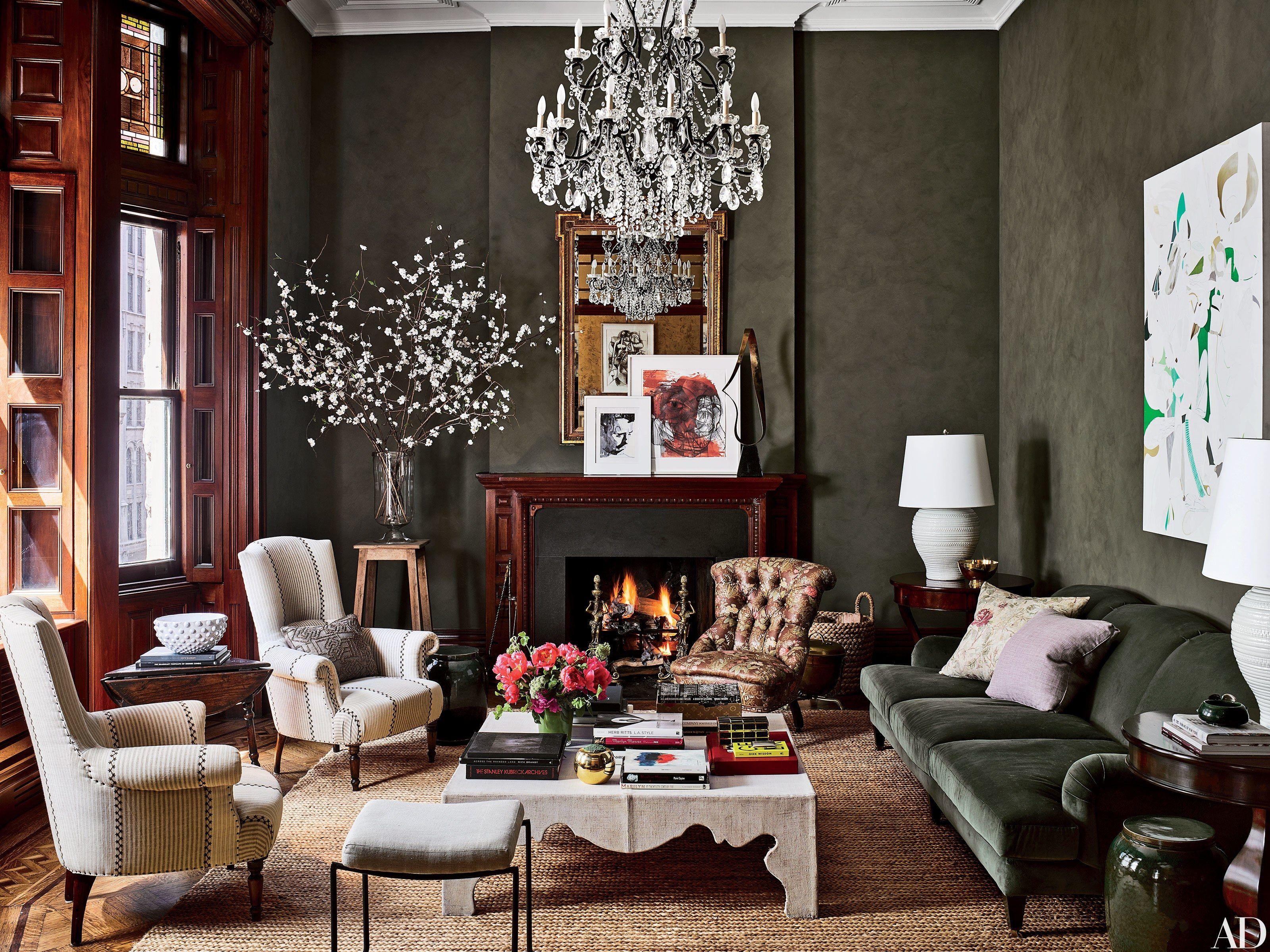 Inside Jessica Chastain S New York City Apartment Interior Design Living Room Decor New York City Apartment Living room ideas nyc