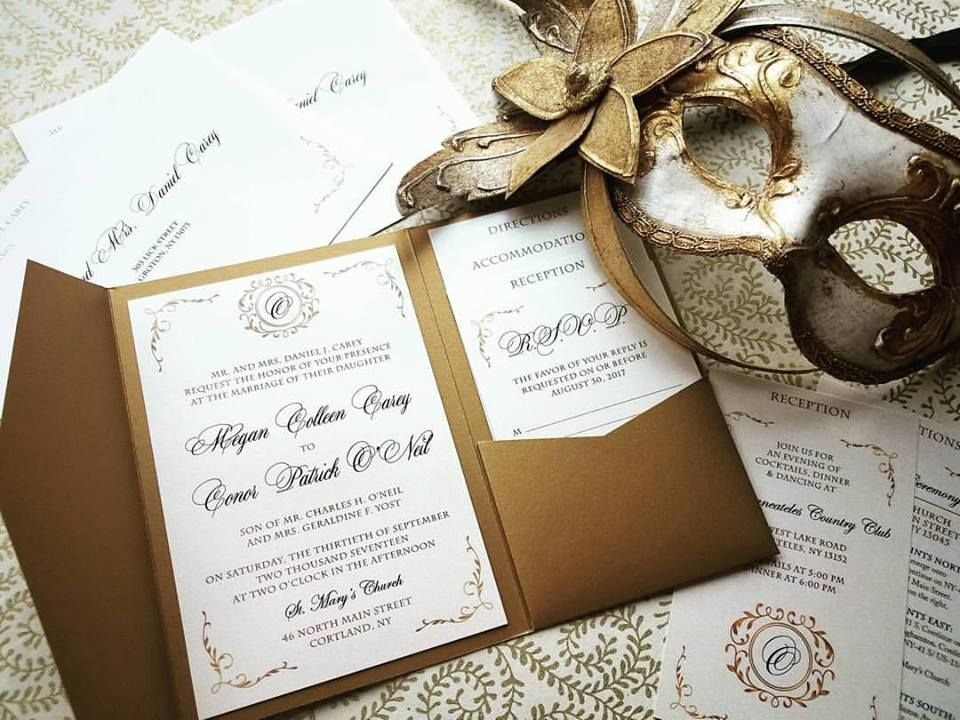 Traditional Elegance Wedding Invitations - Hoopla House Wedding ...