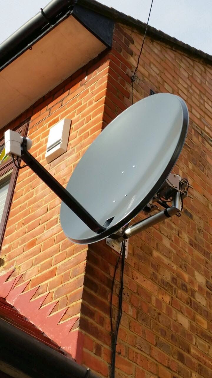 Motorized Satellite Dish Installation Don By Netbuybay Tech Home Security Systems Satellite Dish Home Security