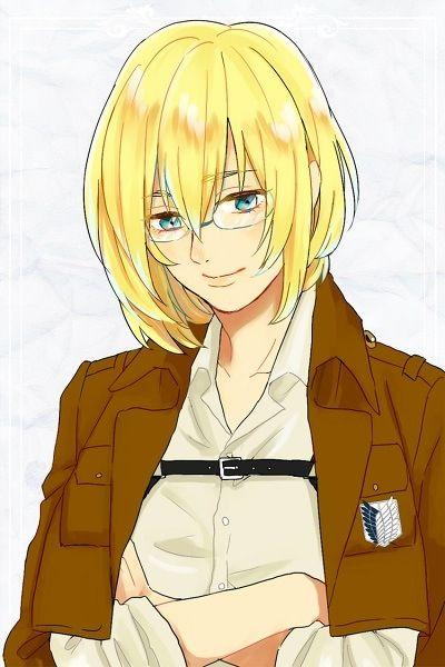 Armin Arlert looking like a chick