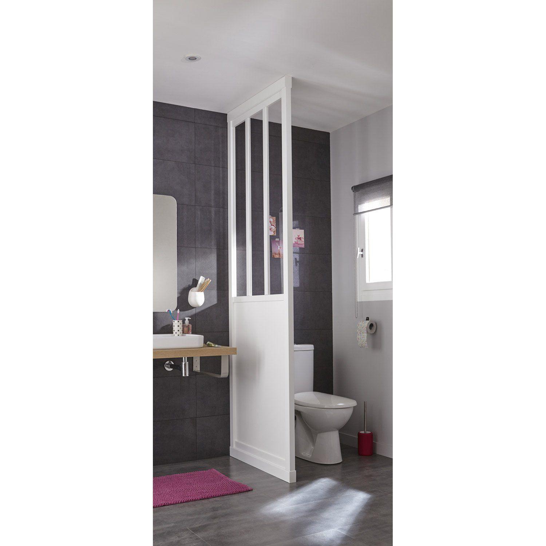 Cloison Décorative Pleine Et Vitrée Atelier 80 X 240 Cm