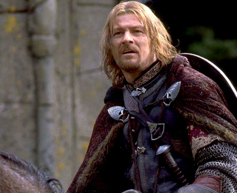 Boromir as he enters Rivendell. | Lord of the rings, Sean bean, The hobbit