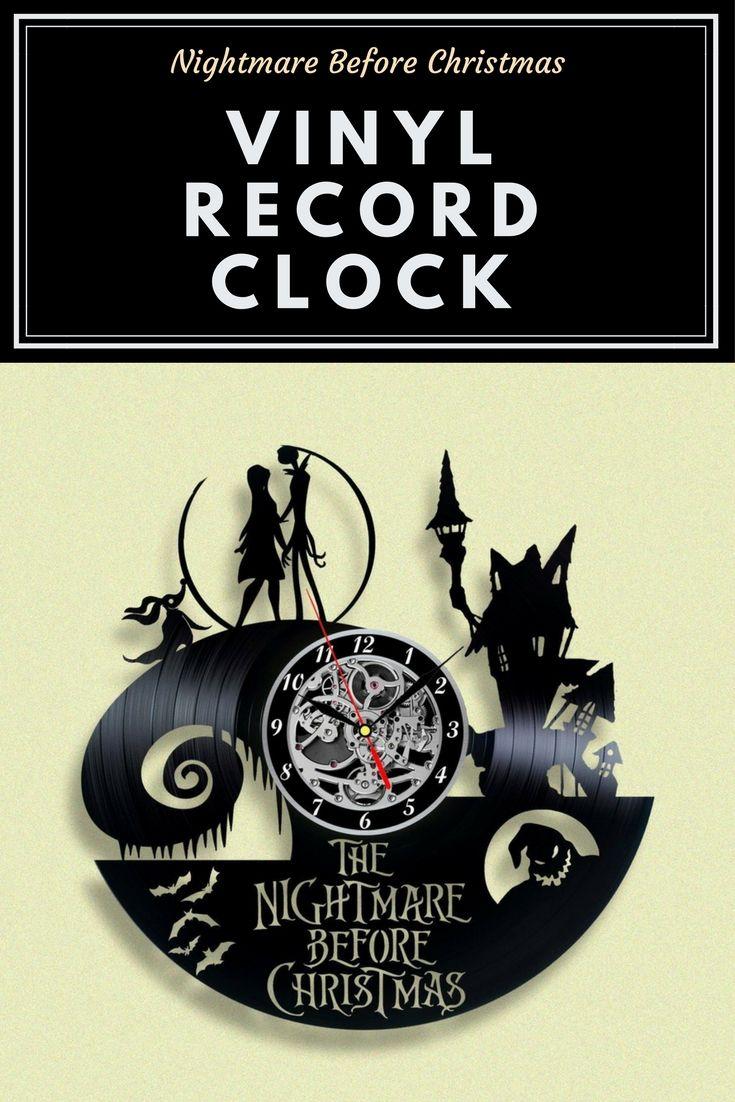 Nightmare Before Christmas Vinyl Record Clock -ad | Clocks ...