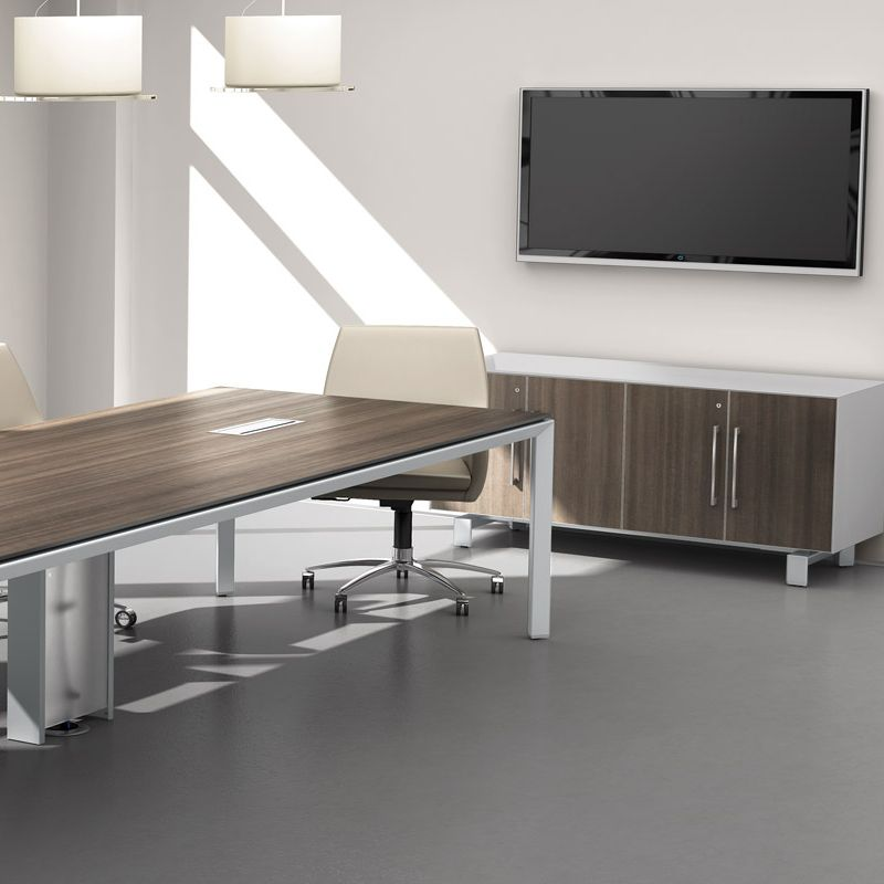 Miro offers a modern, sustainable, and tech-ready line of meeting tables to bring the look and feel of the boardroom into team and project rooms.