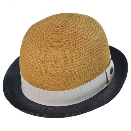 25bad0ee733c9 Packable Straw Bowler Fedora available at  VillageHatShop