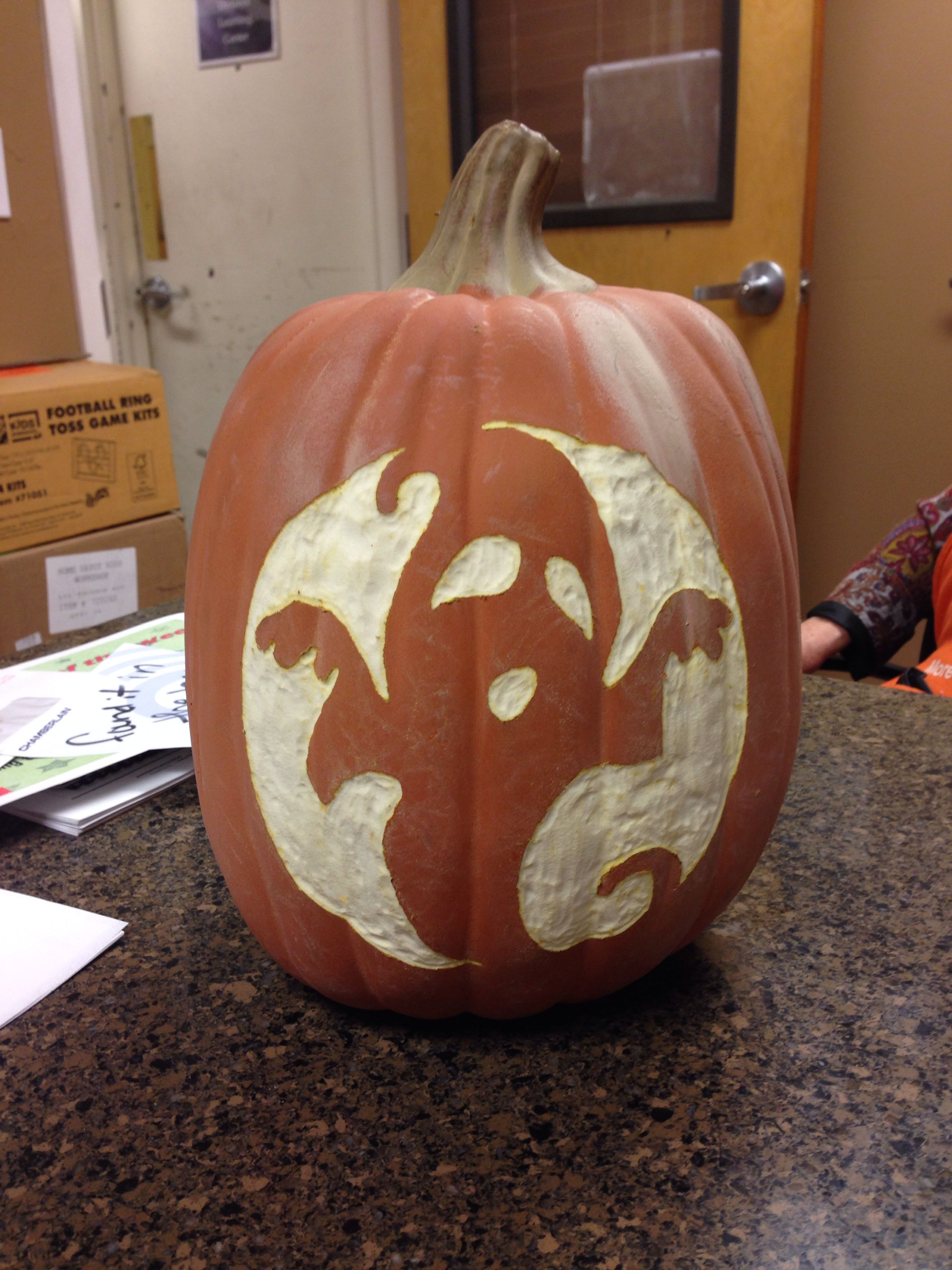Carvable Keepsake 12in Pumpkin At The Home Depot For Only 9 98 Spray Pumpkin With Rust Oleum Glow In The Dark Spray Paint Rustoleum Pumpkin Holiday Projects