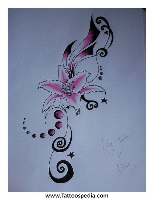 Name Tattoos Lily 6 Tattoospedia Lily Tattoo Stargazer Lily Tattoo Lily Tattoo Design