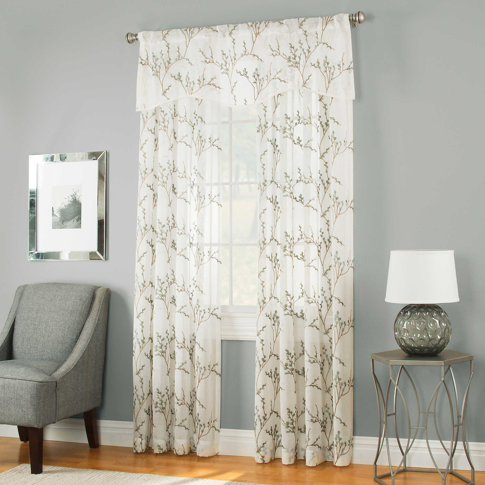 Caprea Sheer 95 Inch Rod Pocket Window Curtain Panel In White