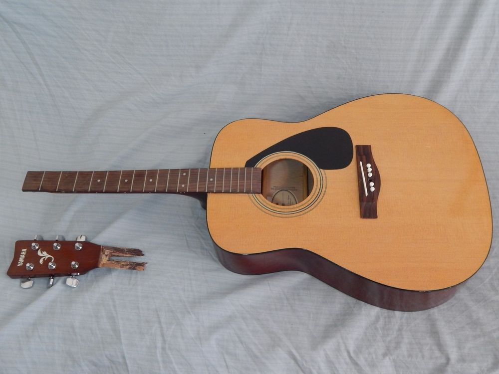 Yamaha F 310 Acoustic Guitar Project Snapped Neck Ebay Guitar Acoustic Acoustic Guitar