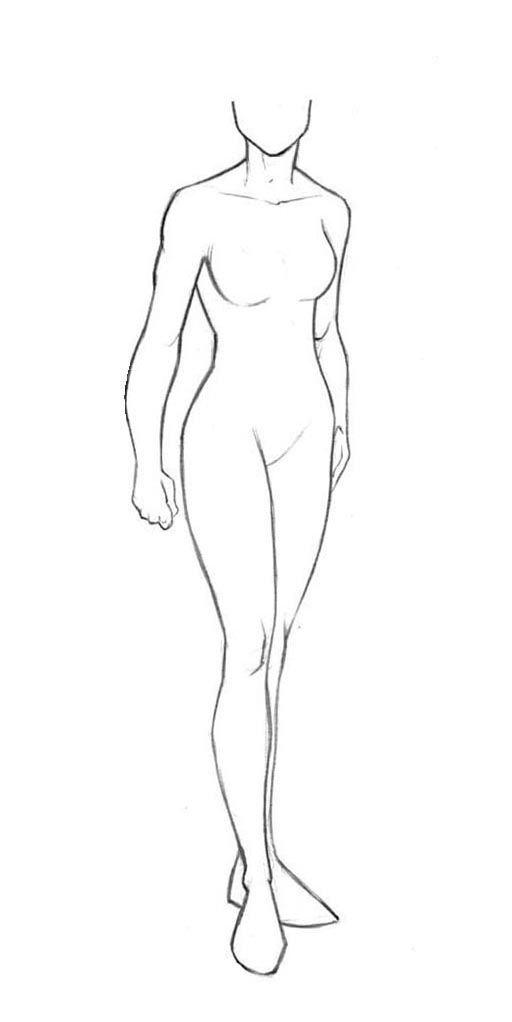 Superhero Template Female 4 Jpg 512 1022 Body Template Drawings Art
