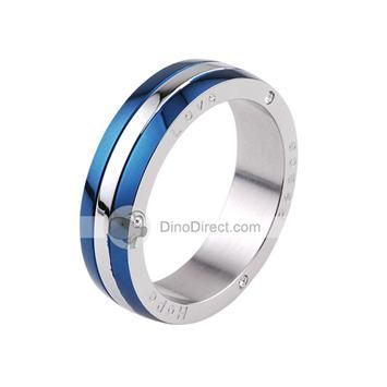 I like these titanium mens rings