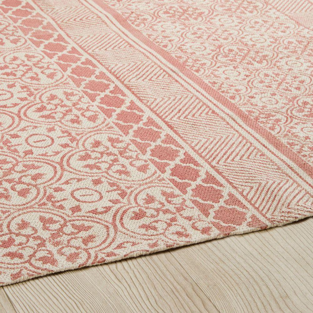teppich aus rosa baumwolle mit