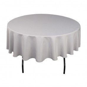 Amazing 90 Inch Round Polyester Tablecloth Silver On A 60 Inch Round Ibusinesslaw Wood Chair Design Ideas Ibusinesslaworg