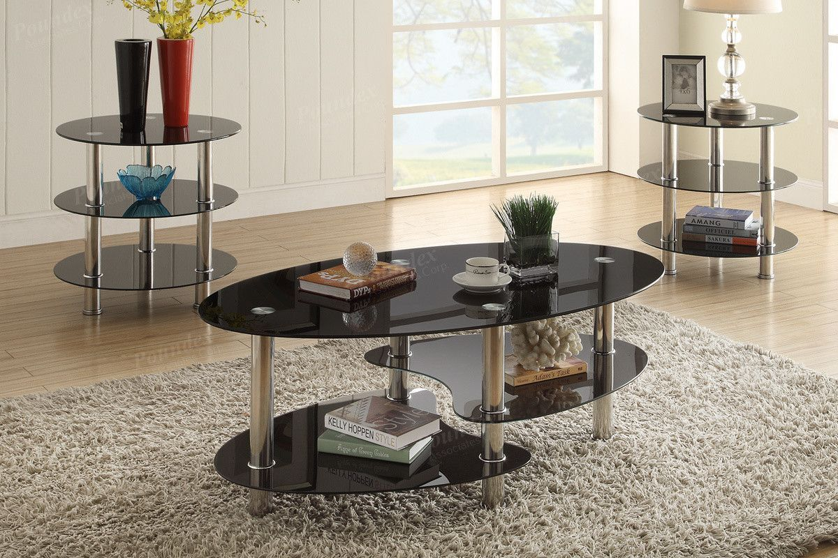 Poundex 3 Pcs Coffee End Table Set F3054 Products 3 Piece