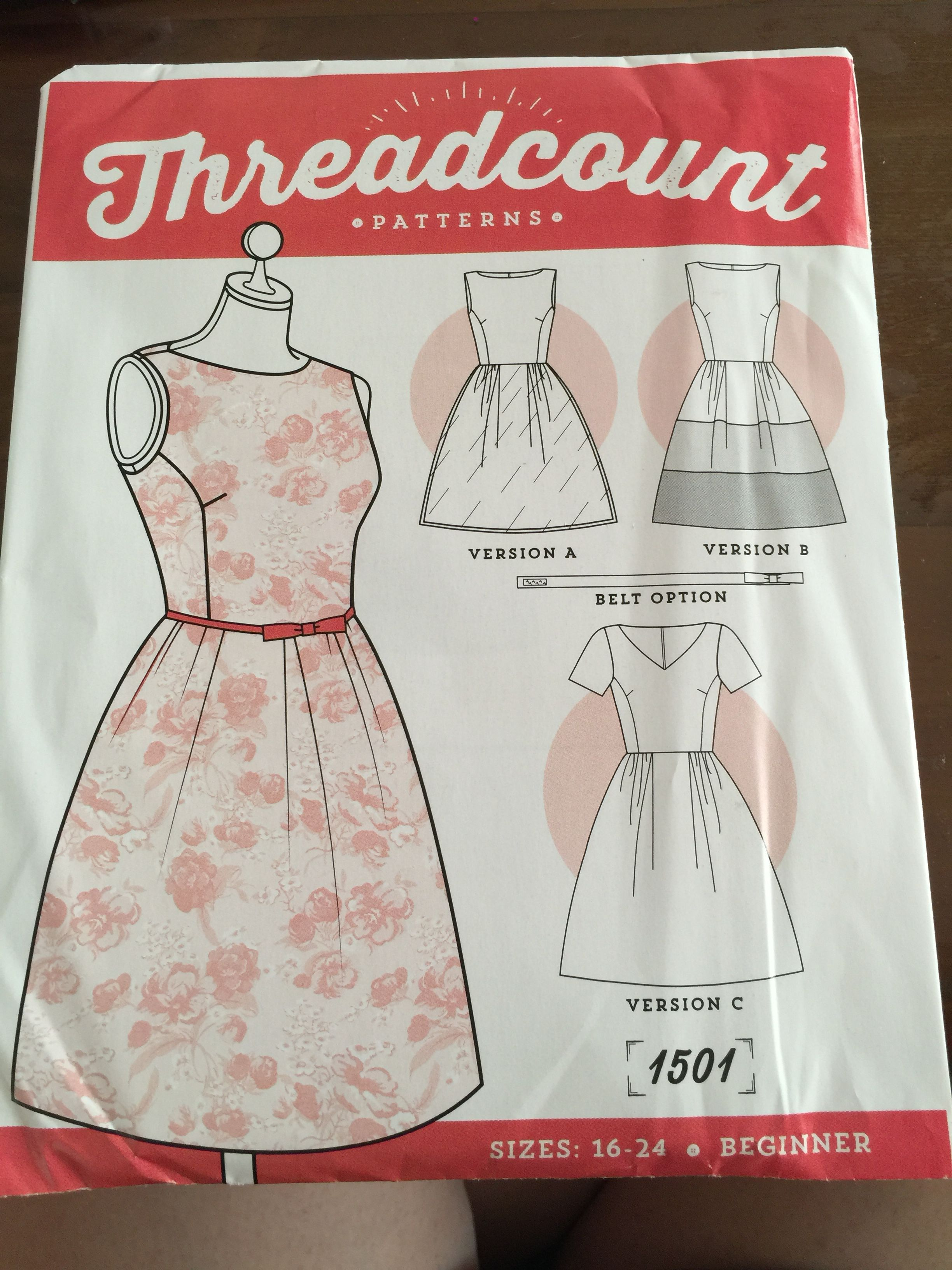 Threadcount 1501 16-24 beginner dress | Sewing | Pinterest | Sewing ...