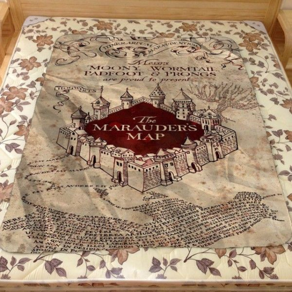 Best Design Harry Potter Marauder Map Hogwarts Custom
