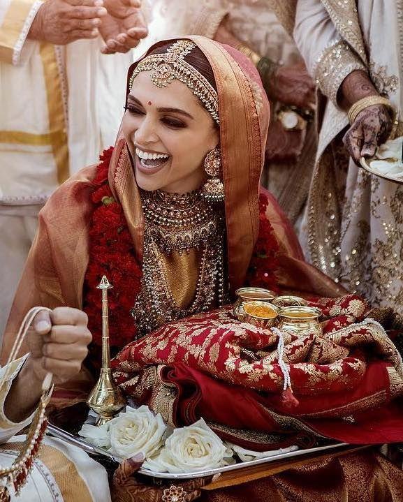Gorgeous Deepika Padukone Portrait From Their Konkani Wedding See More On Wedmegood Com Wedmegood Indianwedd Celebrity Bride Bollywood Wedding Indian Bride