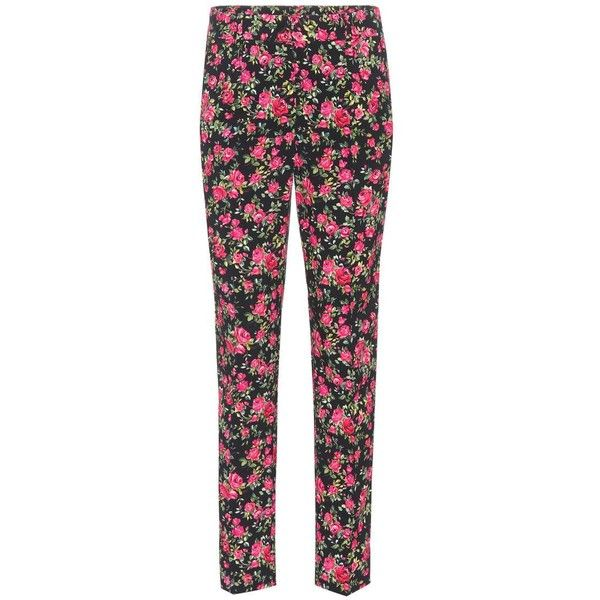 Dolce Gabbana Floral Printed Crepe Trousers 915 Liked On