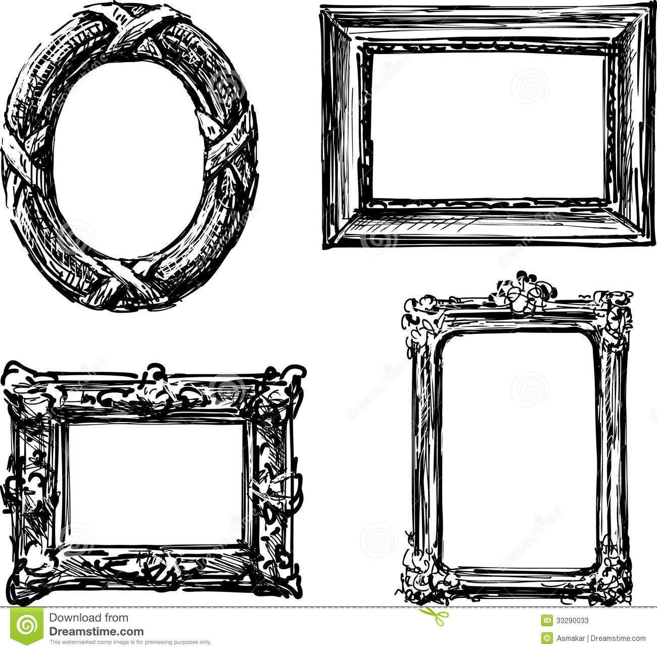 Resultado de imagen para dibujos de marcos antiguos | Marcos ...