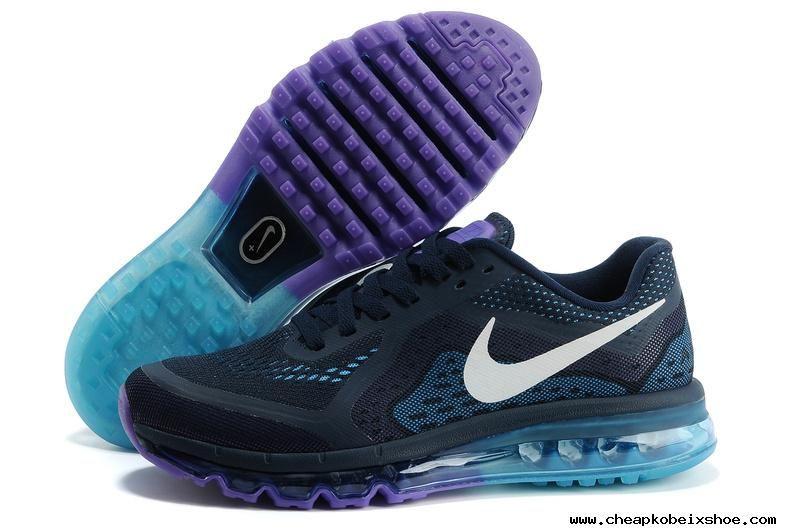 the latest d4851 164e3 Mens Nike Air Max 2014 Black Jade Purple Shoes