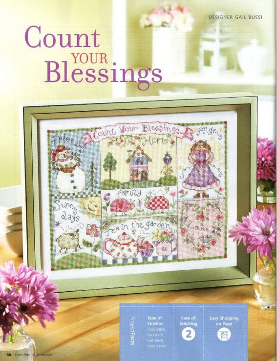 Count Your Blessings Cross Stitch Chart Gallery Ru Фото