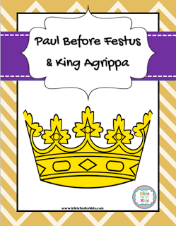Paul Before Festus And King Agrippa Lesson Printables More Biblefun