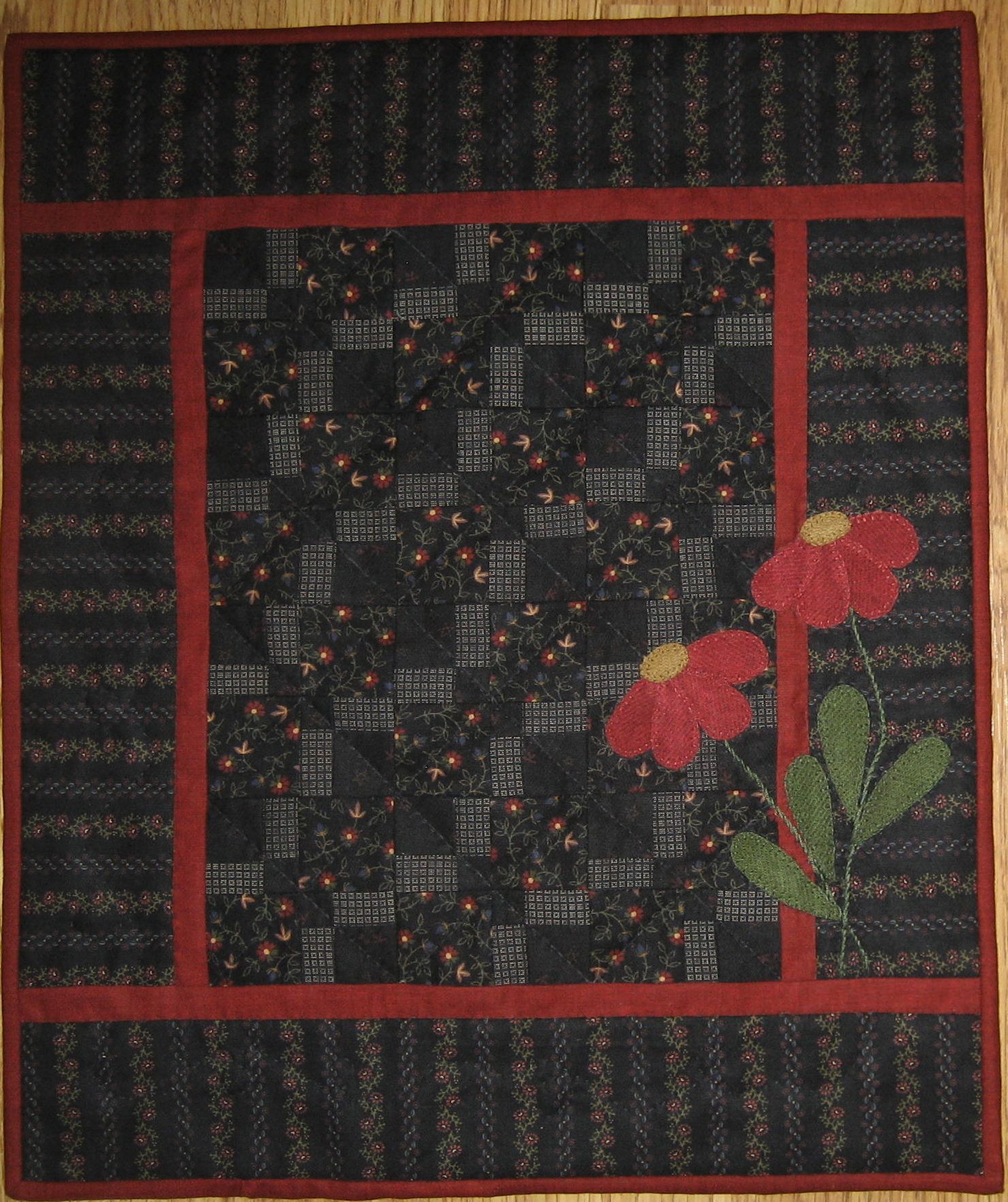 Midnight Blooms - Red Button Quilt Co. | Quilts | Pinterest | Mini ... : red button quilt co - Adamdwight.com