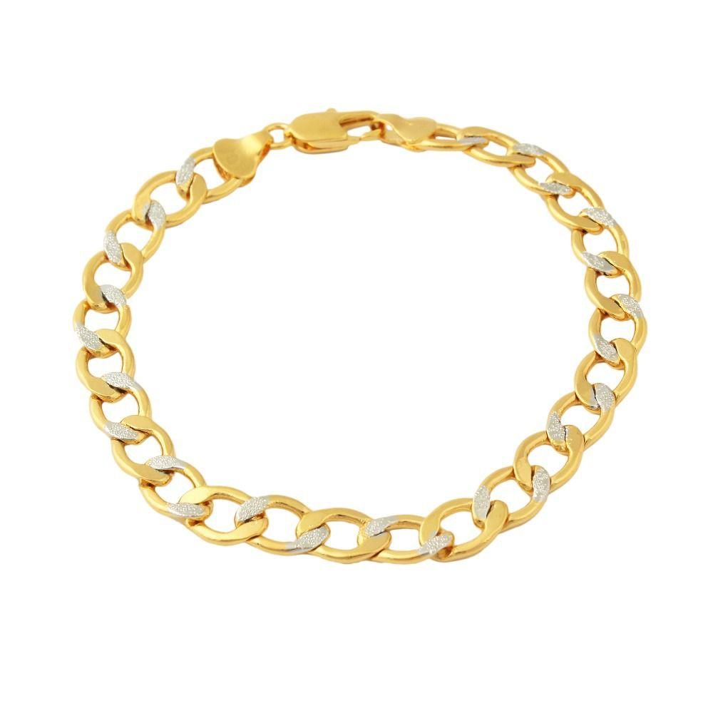 Dubai fashion gold color bracelets women men gifts link chain