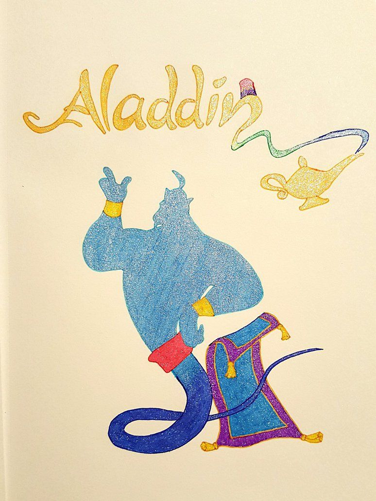 Drawn And Colored With Gel Pens Disney Disneyart Aladdin