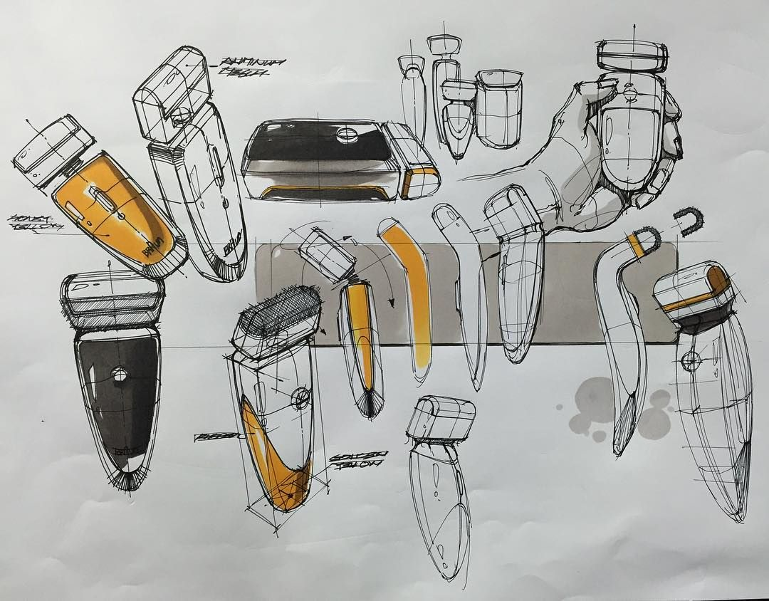 Product Idea Sketch(Electric Razor) BOOK Sale - If you want to buy ...