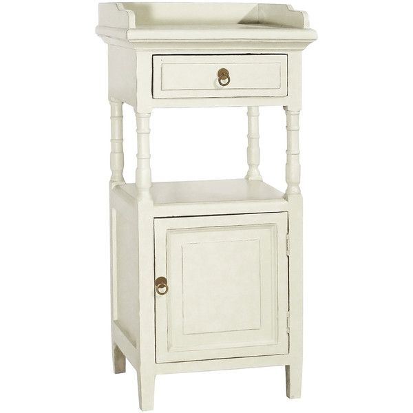 Porthos Home White European Style Telephone Table ($75) ❤ Liked On Polyvore  Featuring