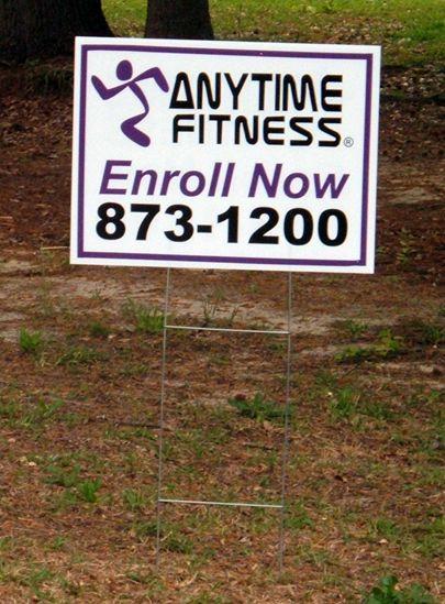 Anytime Fitness;  Charleston, SC;  12x18 inch yard sign