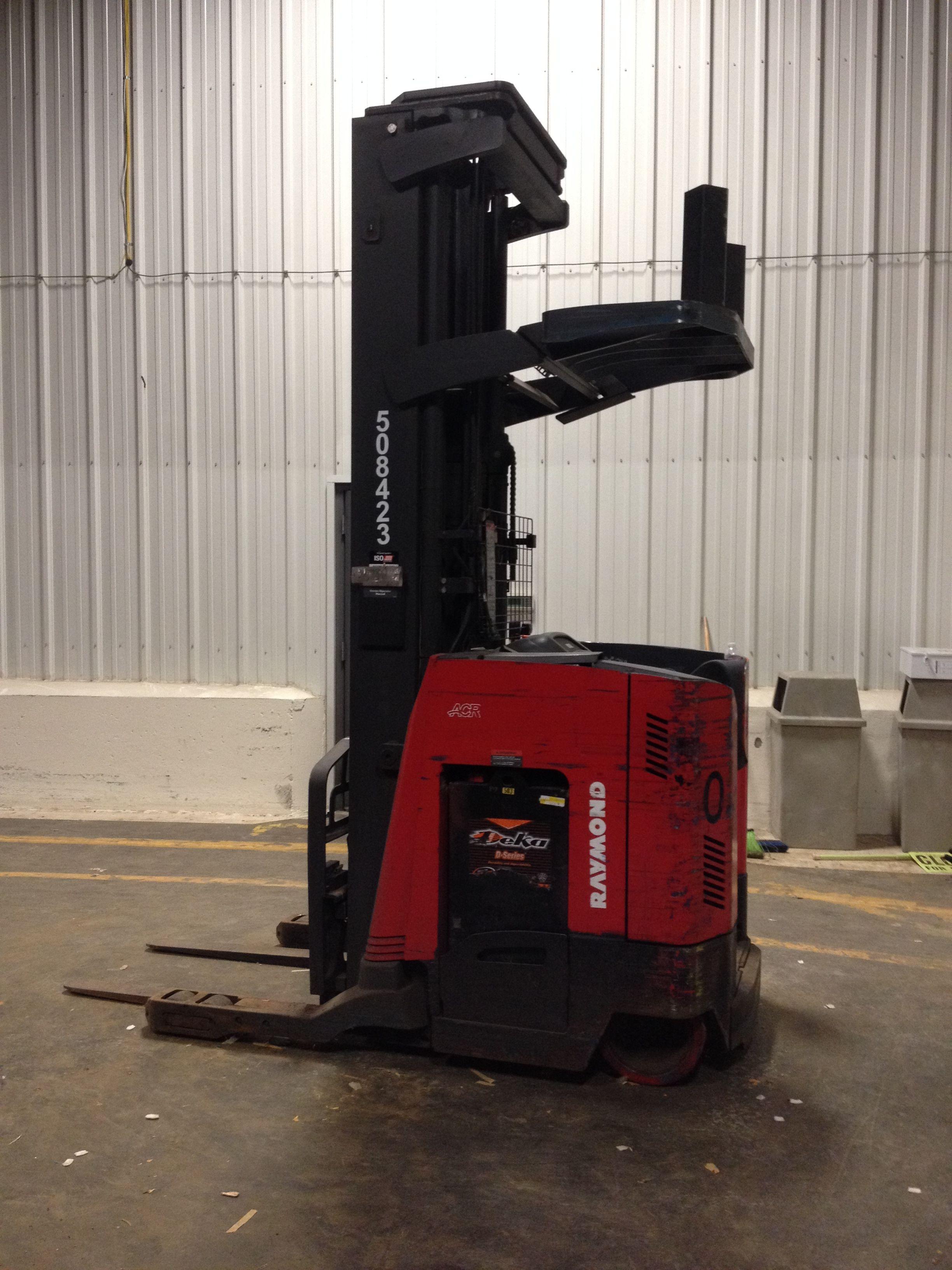 Used Raymond Model TT Scissor Reach Forklift