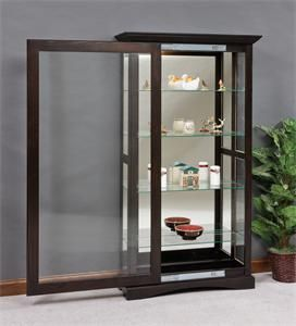 Mission Sliding Door Curio Cabinet Glass Cabinet Doors Sliding Glass Door Curio Cabinet