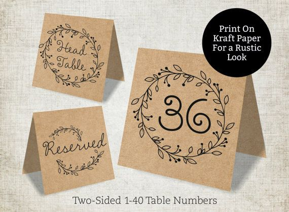 wedding table numbers template rustic wedding table numbers 1 40