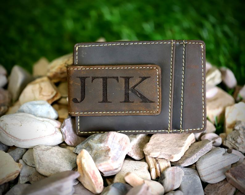 Personalized Money Clip Money Clip Leather Groomsmen gift ...