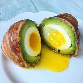 Verwonderlijk First class foodporn! Bacon wrapped avocado eggs, klinkt beter dan WJ-45
