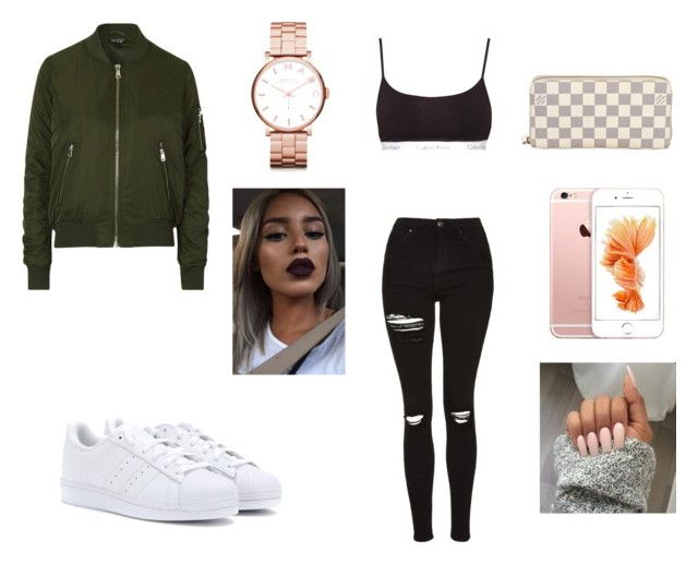 """""""Concert"""" by allgoodbabybaby on Polyvore featuring Topshop, Calvin Klein, adidas, Louis Vuitton and Marc by Marc Jacobs"""