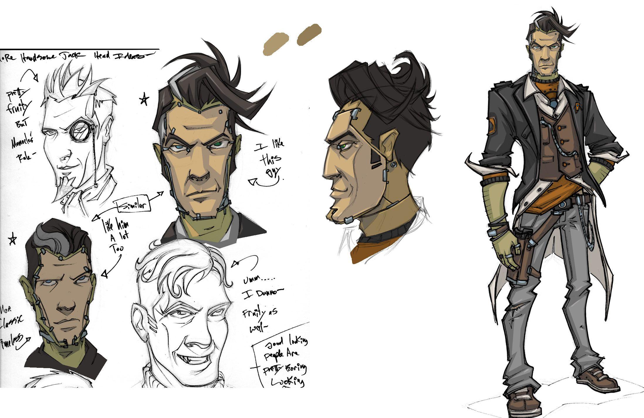 Game Design Character Artist : Borderlands the pre sequel athena concept art google